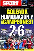 Portada diario Sport del día 3/5/2009