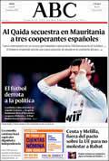 Portada diario ABC del día 30/11/2009