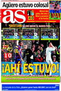 Portada diario As del día 30/11/2009