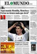 Portada diario El Mundo del día 30/11/2009