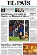 Portada diario El País del día 30/11/2009