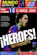 Portada diario M.Deportivo del día 30/11/2009