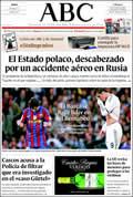 Portada diario ABC del día 11/4/2010