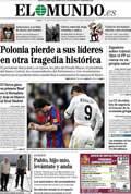 Portada diario El Mundo del día 11/4/2010