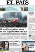 Portada diario El País del día 11/4/2010