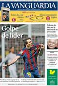Portada diario La Vanguardia del día 11/4/2010