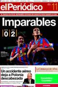 Portada diario Periodico de Catalunya del día 11/4/2010