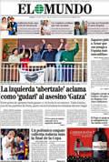 Portada diario El Mundo del día 17/4/2011