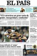 Portada diario El País del día 17/4/2011