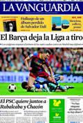 Portada diario La Vanguardia del día 17/4/2011