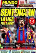 Portada diario M.Deportivo del día 17/4/2011
