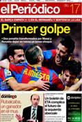 Portada diario Periodico de Catalunya del día 17/4/2011