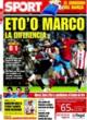 Portada diario Sport del 20 de Octubre de 2008