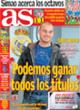 Portada diario AS del 23 de Octubre de 2008