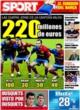 Portada diario Sport del 24 de Octubre de 2008