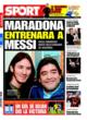Portada diario Sport del 29 de Octubre de 2008