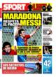 Portada diario Sport del 31 de Octubre de 2008