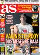 Portada diario AS del 8 de Noviembre de 2008