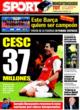 Portada diario Sport del 8 de Noviembre de 2008