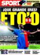 Portada diario Sport del 9 de Noviembre de 2008