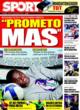 Portada diario Sport del 10 de Noviembre de 2008
