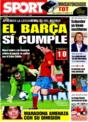 Portada diario Sport del 13 de Noviembre de 2008