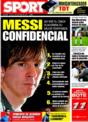 Portada diario Sport del 14 de Noviembre de 2008