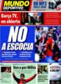 Portada Mundo Deportivo del 14 de Noviembre de 2008