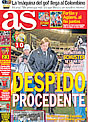 Portada diario AS del 16 de Noviembre de 2008