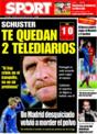 Portada diario Sport del 16 de Noviembre de 2008