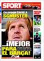 Portada diario Sport del 18 de Noviembre de 2008