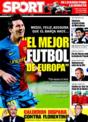 Portada diario Sport del 19 de Noviembre de 2008