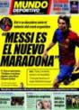 Portada Mundo Deportivo del 19 de Noviembre de 2008