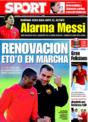 Portada diario Sport del 22 de Noviembre de 2008
