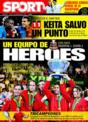 Portada diario Sport del 24 de Noviembre de 2008