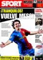 Portada diario Sport del 25 de Noviembre de 2008
