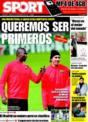 Portada diario Sport del 26 de Noviembre de 2008