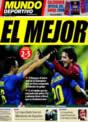 Portada Mundo Deportivo del 27 de Noviembre de 2008