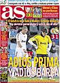 Portada diario AS del 30 de Noviembre de 2008