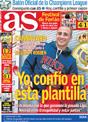 Portada diario AS del 1 de Diciembre de 2008