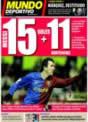 Portada Mundo Deportivo del 1 de Diciembre de 2008