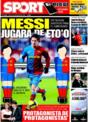 Portada diario Sport del 2 de Diciembre de 2008