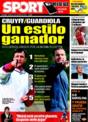 Portada diario Sport del 3 de Diciembre de 2008