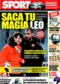 Portada diario Sport del 6 de Diciembre de 2008