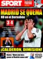Portada diario Sport del 8 de Diciembre de 2008