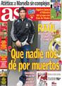 Portada diario AS del 9 de Diciembre de 2008