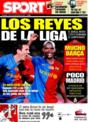 Portada diario Sport del 15 de Diciembre de 2008