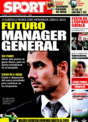 Portada diario Sport del 16 de Diciembre de 2008
