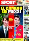 Portada diario Sport del 18 de Diciembre de 2008