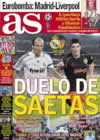 Portada diario AS del 20 de Diciembre de 2008
